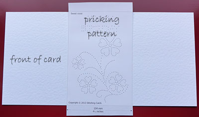 Secure the pricking pattern - front